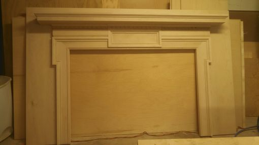 Custom Made Custom Fireplace Mantel And Cabinetry