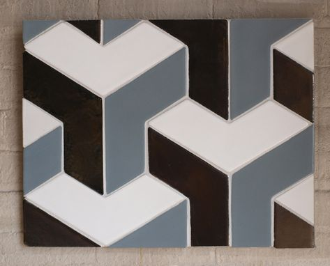 Custom Made Chevron Tile 12
