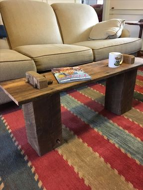 Custom Made Reclaimed Barnbeam Coffee Table Or Bench