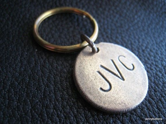 buy a custom made personalized key chain keychain in solid bronze