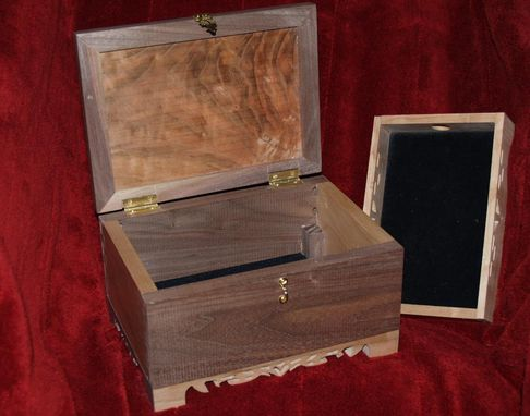 Custom Made Black Walnut And Cherry Jewelry Box