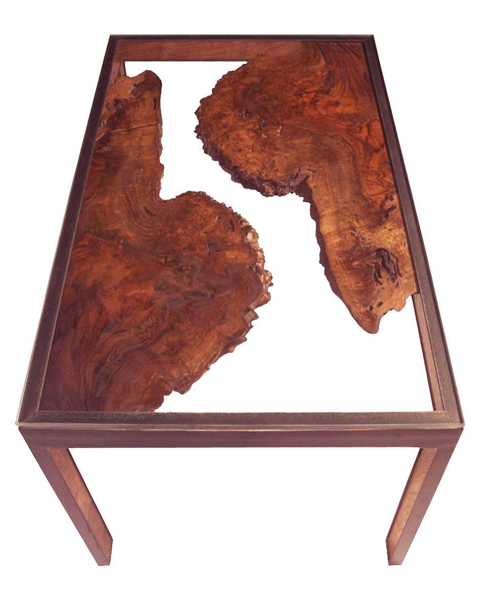 Custom Made Walnut Burl Side Table