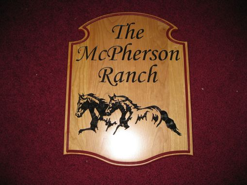Custom Made Custom Horse Ranch Driveway Sign