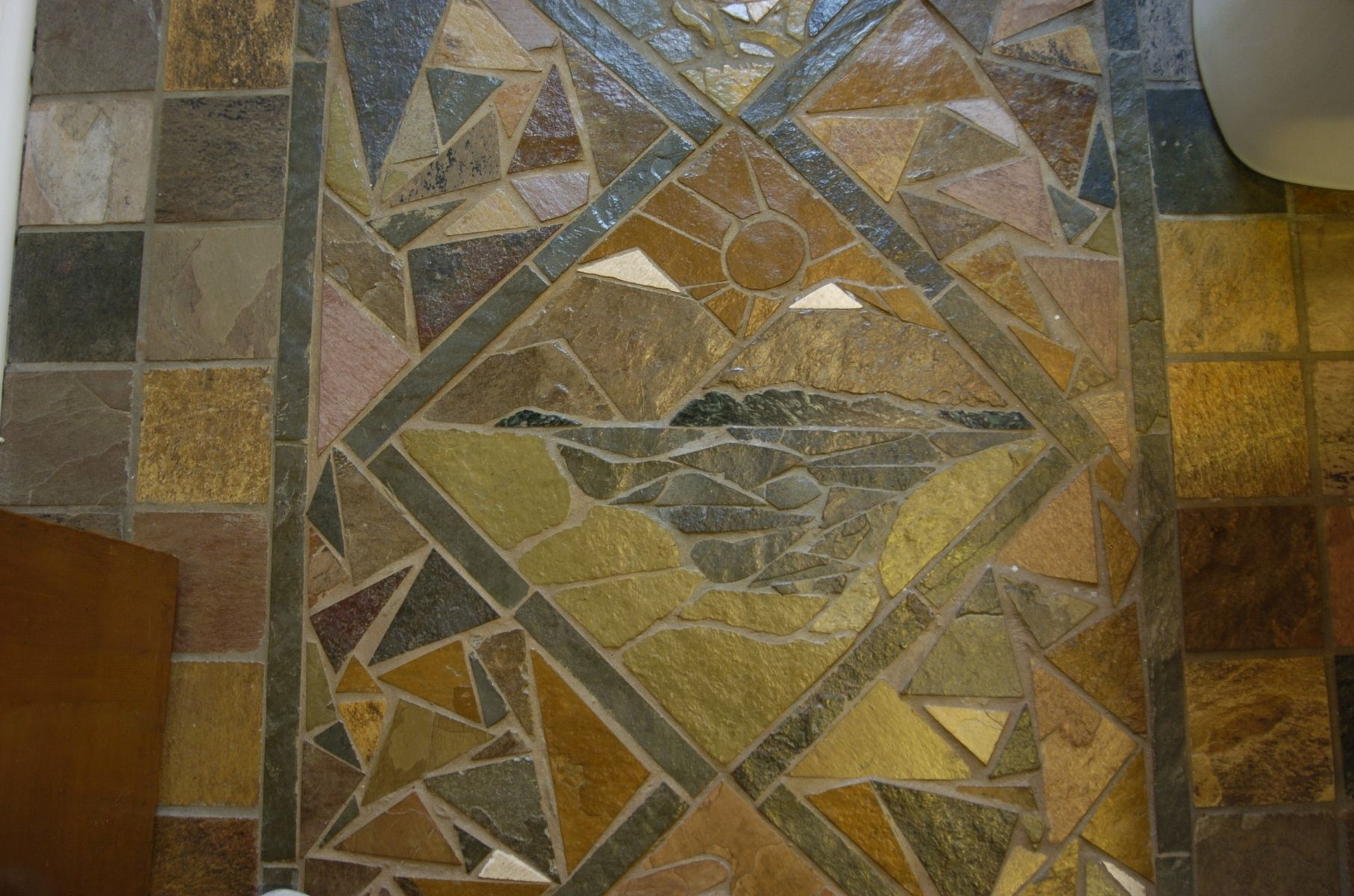 Hand Crafted Slate Mosaic Floor By Vandorn Turpen Custommade Com