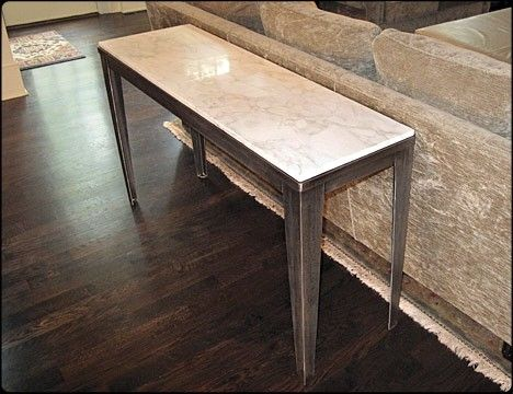 Custom Made Rocky Top Metal Couch Table