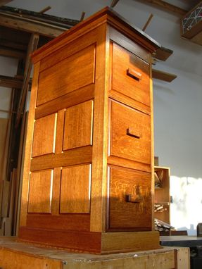 Custom Made File Cabinet With Secret Drawer
