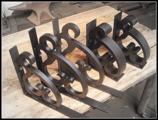 Custom Made Laser Cut Heart Corbell And Shelf Brackets