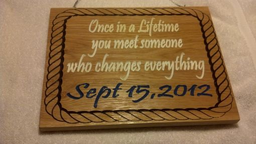 Custom Made Wedding Signs Engraved Personalized