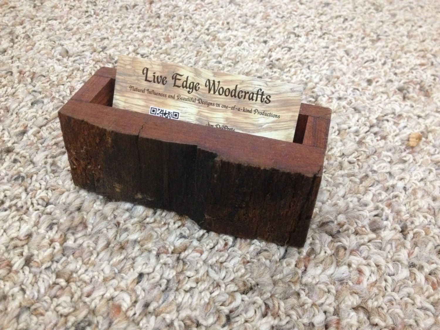 Hand Made Business Card & Pen Holders by Live Edge Woodcrafts ...
