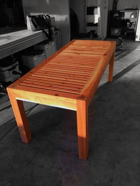 Custom Made Modern Outdoor Patio Table - Redwood
