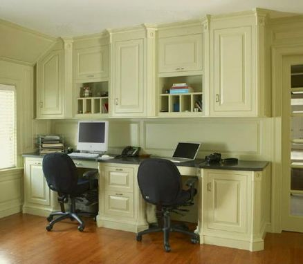 Custom Made Home Office With Architectural Accents In Scarsdale Ny