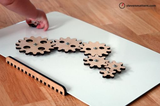Hand Made Magnetic Gear Toy By Steven Mattern Design