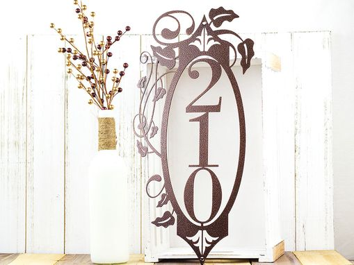 Custom Made Vertical House Number Metal Sign | Vertical Address | House Numbers | Outdoor House Number