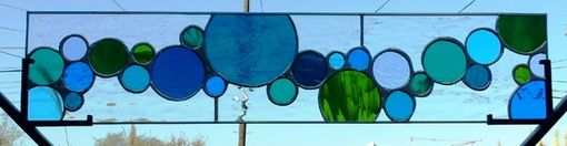 "Custom Made Stained Glass Window - ""Cold Bubbles"" (W-39)"