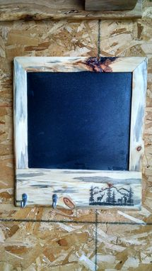 Custom Made Beetle Kill Pine Chalk Board With Hangers
