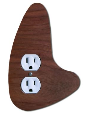 Custom Made Modern Outlet Cover Right | Mid Century Outlet Cover Right