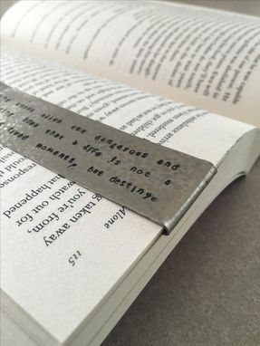 Custom Made Personalized Metal Bookmarks