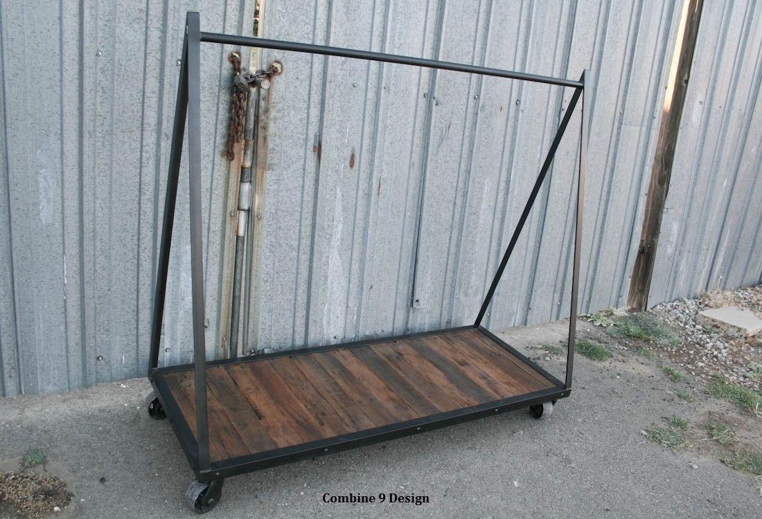 buy a custom clothing rack garment rack vintage. Black Bedroom Furniture Sets. Home Design Ideas