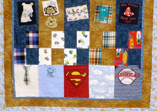 Custom Made Custom Throw Quilt Made From Baby Clothing