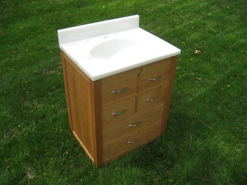 Custom Made Cherry Vanity