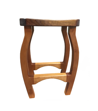 Custom Made Mahogany And Walnut Stool