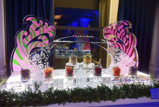 Custom Made Ice Bars And Martini Luge Ice Sculptures