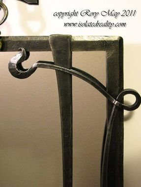 Custom Made Gothic Nouveau Mirror Frame