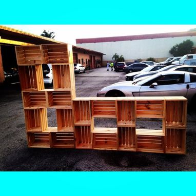 Custom Made Vintage Crate Style Wall Unit