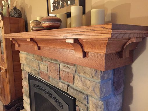Hand Crafted Custom Quarter Sawn Red Oak Mantel Craftsman