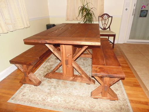 Custom Made Farmhouse Trestle-X Table