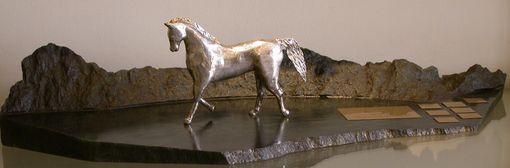 Custom Made Hand Carved Sterling Silver Dressage Trophy