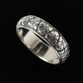 fig leaf wedding band r2502sx - Leaf Wedding Ring