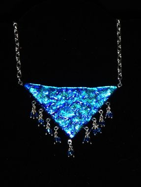 Custom Made Large Dichroic Glass Necklace
