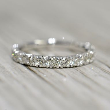 Custom Made French Pavé Eternity Band 2.4mm 1ct In White