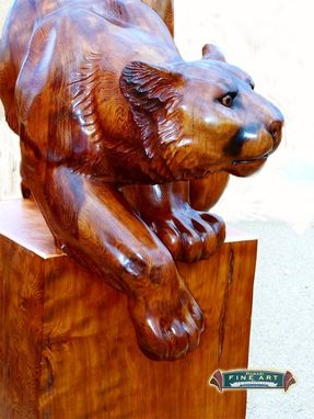 Custom Made Carved Mountain Lion