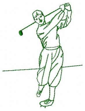 Custom Made Man Golfer Embroidery Design