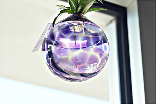 Custom Made Spider Hanging Planter, Hand Blown Glass Terrarium