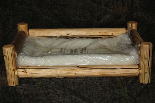 Custom Made Rustic Log Pet Beds