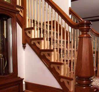 Custom Made Solid Wood Front Staircase