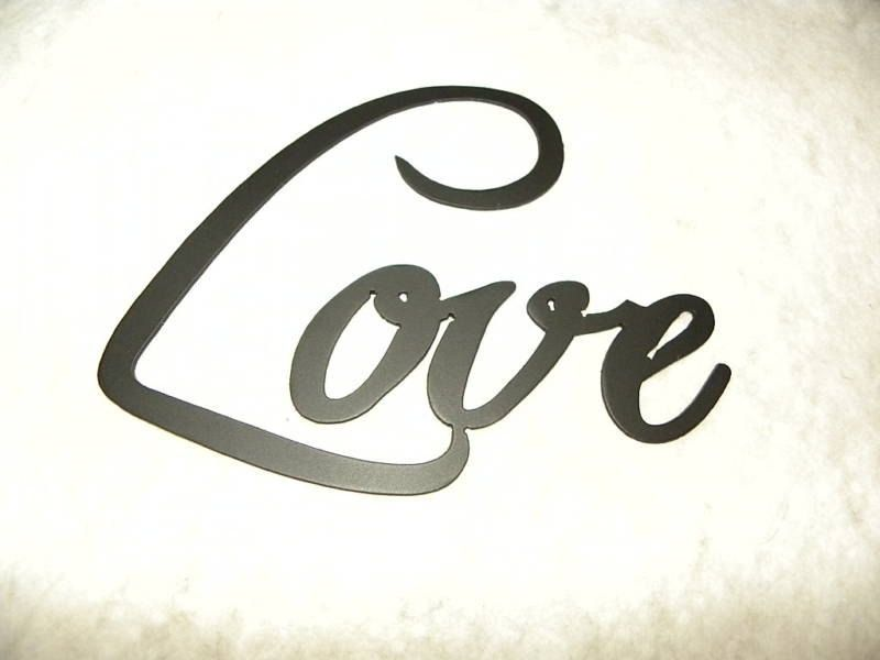Custom made love word home decor metal wall art