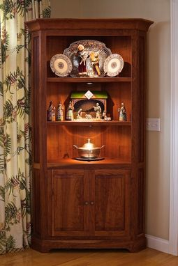 Custom Made Cherry Corner Cabinet