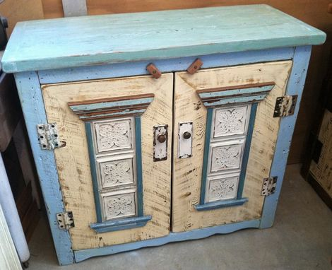 Custom Made French Blue Media Cabinet
