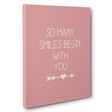 Custom Made So Many Smiles Begin With You Love Gift Canvas Wall Art