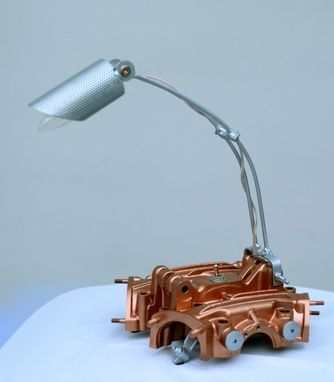 Custom Motorcycle Valve Cover Desk Lamp By Taylor