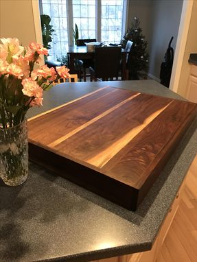 Custom Made Solid Walnut Stove Cover Or Modified Cutting Board