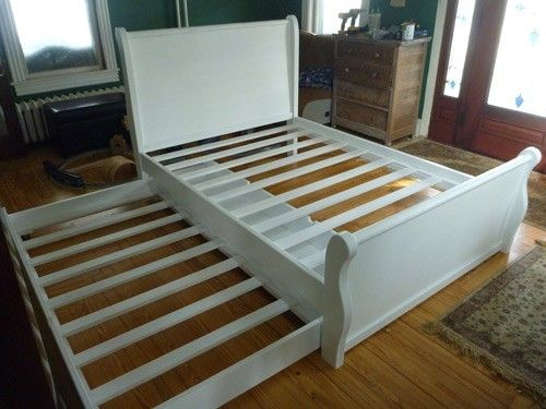Custom Made Sleigh Bed W/Trundle