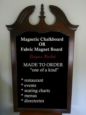 Custom Made Wall Hanging Wood Sign Board - Extra Large Framed 48x28 Magnetic Chalk Black Board
