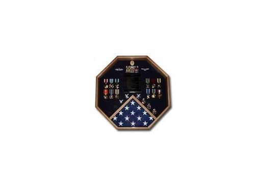 Custom Made Retirement Flag And Medals Display Cases