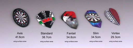 Custom Made Dart Flights, Custom Shapes And Surface Areas