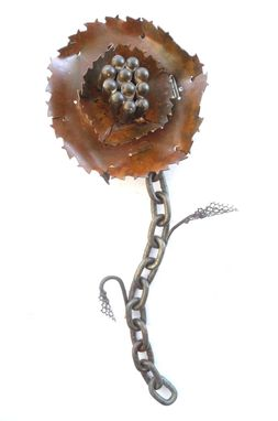 "Custom Made Saw-Blade Flower Wall Hanging - ""Buttercut"""